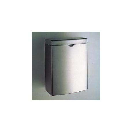 Contura Sanitary Napkin Disposal Receptacle, Stainless
