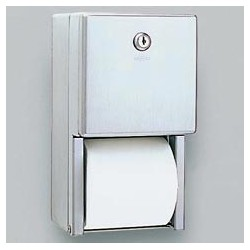 Stainless Steel Dual Roll Toilet Tissue Dispenser