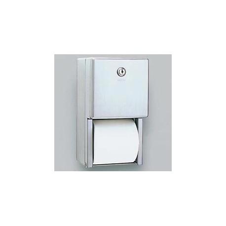 Stainless Steel Dual Roll Toilet Tissue Dispenser