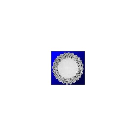 """Paper Doilies,  8"""" Round, French Lace"""