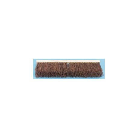 "Palmyra Fiber Floor Brush Push Broom, 18"""