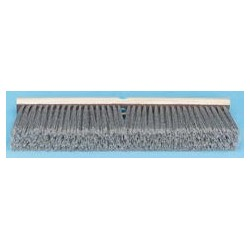Gray Flagged Polypropylene Floor Brush Push Broom, 18""