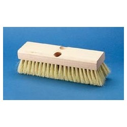 White Tampico Deck Brush