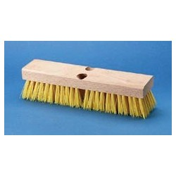 Cream Polypropylene Deck Brush