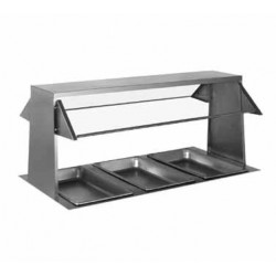 "Buffet Shelf, 63-1/2"", with sneeze guard- both sides"