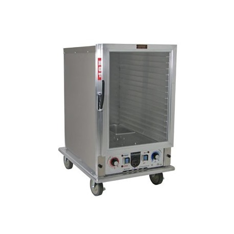 Economy Cabinet, Mobile Heater/Proofer, Insulated, 14-Pan, Clear Door