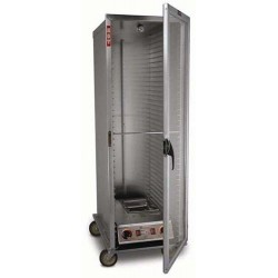 Economy Cabinet, Mobile Heater/Proofer, Insulated, 34-pan, Clear Door