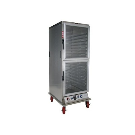 Cabinet, Mobile Heater/Proofer, Insulated, Universal, Clear Dutch Doors
