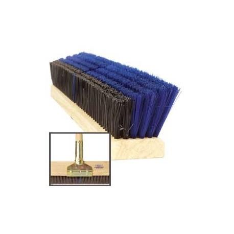 "Omni Sweep Dual Bristle Push Broom, Plastic Block, 24"""