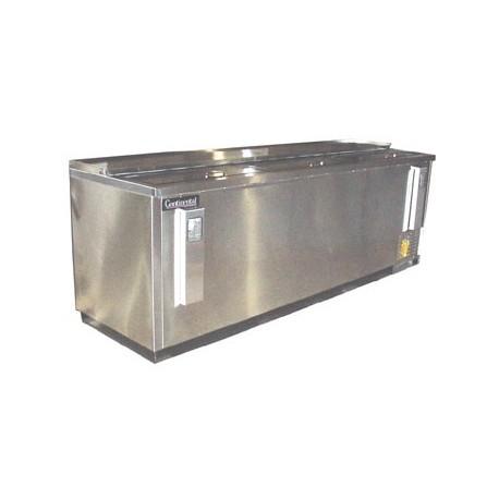 "Flat Top Bottle Cooler, 95"", Stainless Steel Exterior"