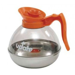 Plastic Coffee Pot Decanter, Commercial, Orange
