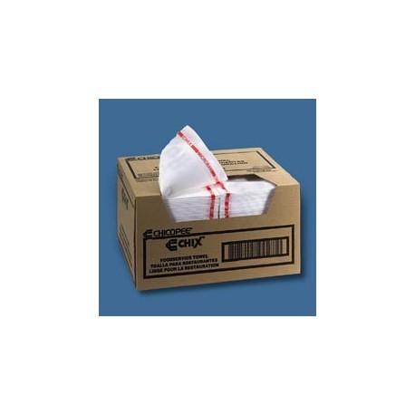 Chix Foodservice Towel, White/Red stripe