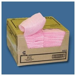 "Chix Wet Wipes, Pink & White 13-1/2"" x 21"""