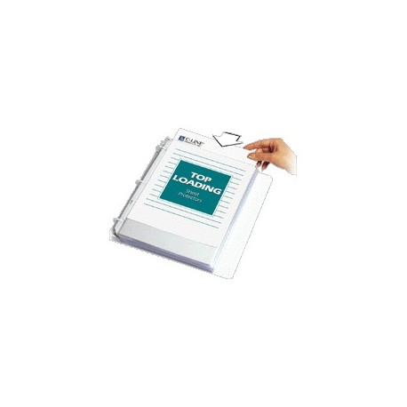 Top Load Sheet Protector, Heavyweight, Non Glare, Clear