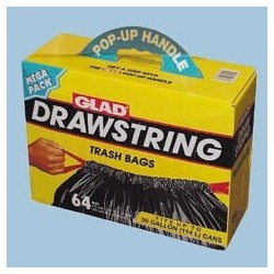 30 Gallon Glad Outdoor Drawstring Trash Bags