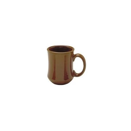 China Mug, 7-1/2 oz., bell shape, Caramel