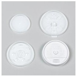 Plastic Lids for Hot/Cold Foam Cups, Vented, For 4-oz.