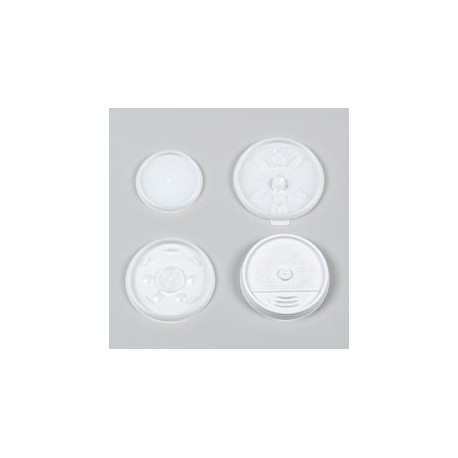 Plastic Lids for Hot/Cold Foam Cups, Vented, For 8-oz.