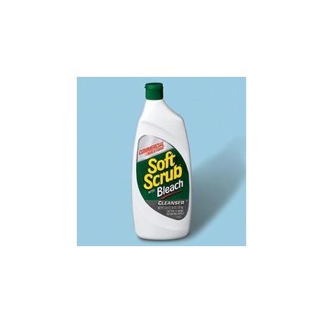 Soft Scrub Liquid Cleanser with Bleach Disinfectant, 24-oz.