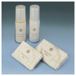 White Marble Guest Amenities Breck Conditioning Shampoo