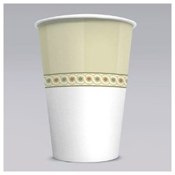 Paper Cold Cups, Sage Collection Design. 16-oz. Size