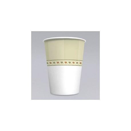 8-oz Mira-Glaze Paper Hot Cups, Sage Collection Design