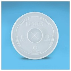 Plastic Lids for Paper Cold Cups, For 12 & 16-oz.