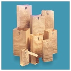 Kraft Standard Duty Paper Bags, Shorty 20-lb