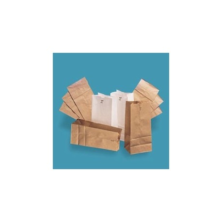 White Standard Duty Paper Bags, Shorty 20-lb
