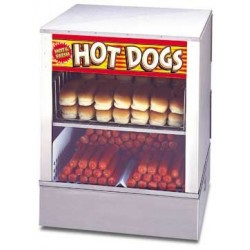 Hot Dog Steamer, over-and-under w/ bun warmer