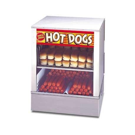 Hot Dog Steamer, over-and-under w/ bun warmer