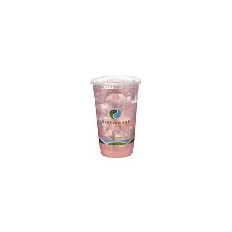 16/18 oz. Clear Squat Greenware PLA Drink Cups, Printed