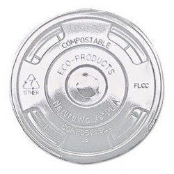 16-24 oz. Clear Greenware  PLA Drink Cup Flat Lids with Straw Slot