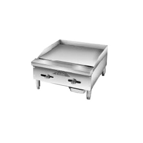 """Griddle, Countertop, Manual, Gas, 18"""""""