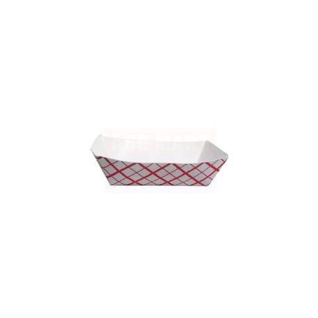 Food Trays Plaid 1/2 lb.