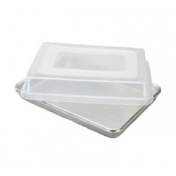 Natural Commercial Half Sheet Cake Pan W/lid