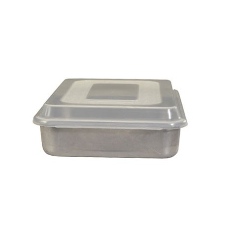 Natural Commercial Cake Pan W/lid, Square