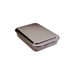 "Natural Commercial Cake Pan W/cover, 9"" X 13"" X 3-1/4""h"
