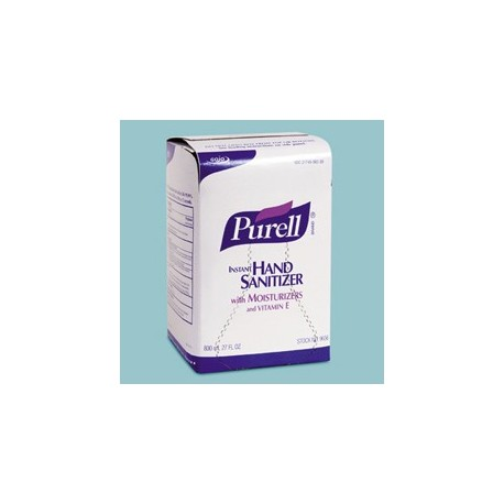 Purell Instant Hand Sanitizer, Bag-In-Box Refills, 800 Mil