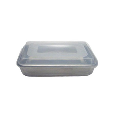 "Natural Commercial Cake Pan W/lid, 9"" X 13"" X 3-1/2"""