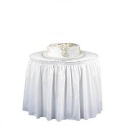 """Plastic Table Skirting, White, 29"""" x 14'"""