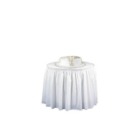 "Plastic Table Skirting, White, 29"" x 14'"