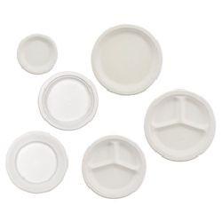 "10"" Empress Fiber Dinner Plate, Biodegradable, Divided"