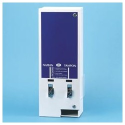 E-Vendor Dual Sanitary Napkin/Tampon Dispenser, $.50 Mechanism