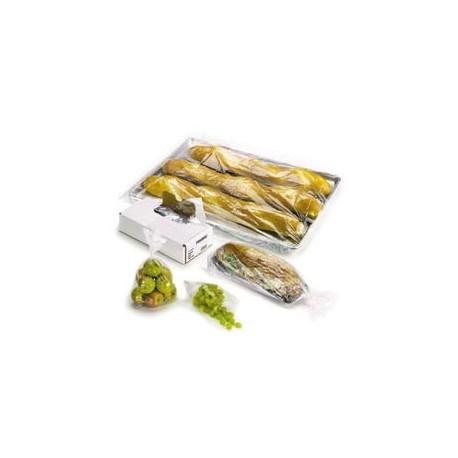"Plastic Food Bags, Clear, .009mm,  8"" x 4"" x 18"""