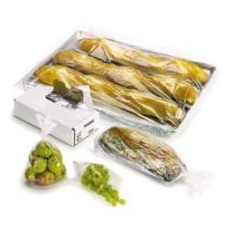 "Plastic Food Bags, Clear, .001mm, 10"" x 8"" x 24"""
