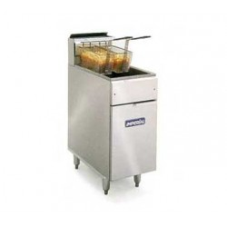 Elite Deep Fryer, Gas, 40-lb., SS Frypot: Open Pot