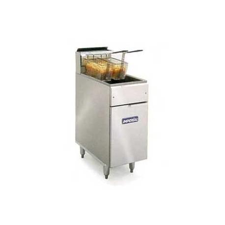 Elite Deep Fryer, Gas, 40-lb., SS Frypot: Open Pot