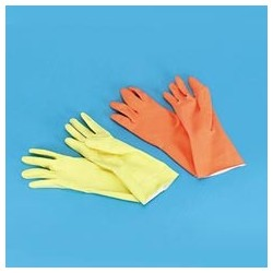 Yellow Reusable Gloves, X-Large