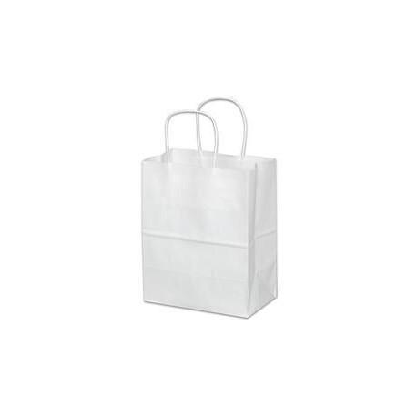 Missy White Paper Shopping Bag w/Twist Handle